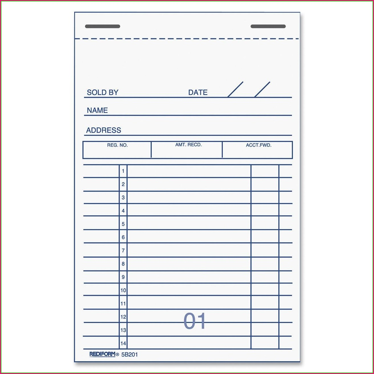 Printable Rent Receipt Book Template Free