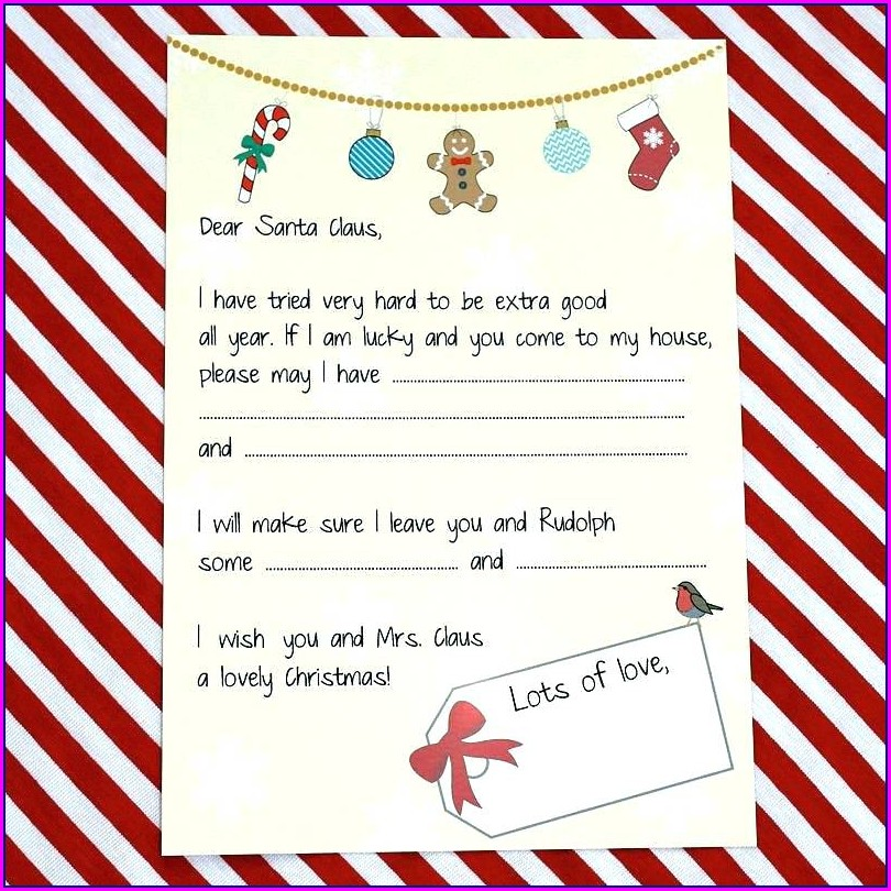 Printable Secret Santa Invitation Template Free
