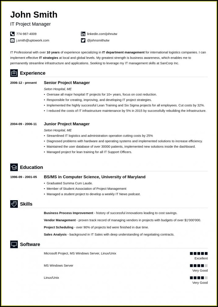 Professional 2019 Resume Templates Free Download