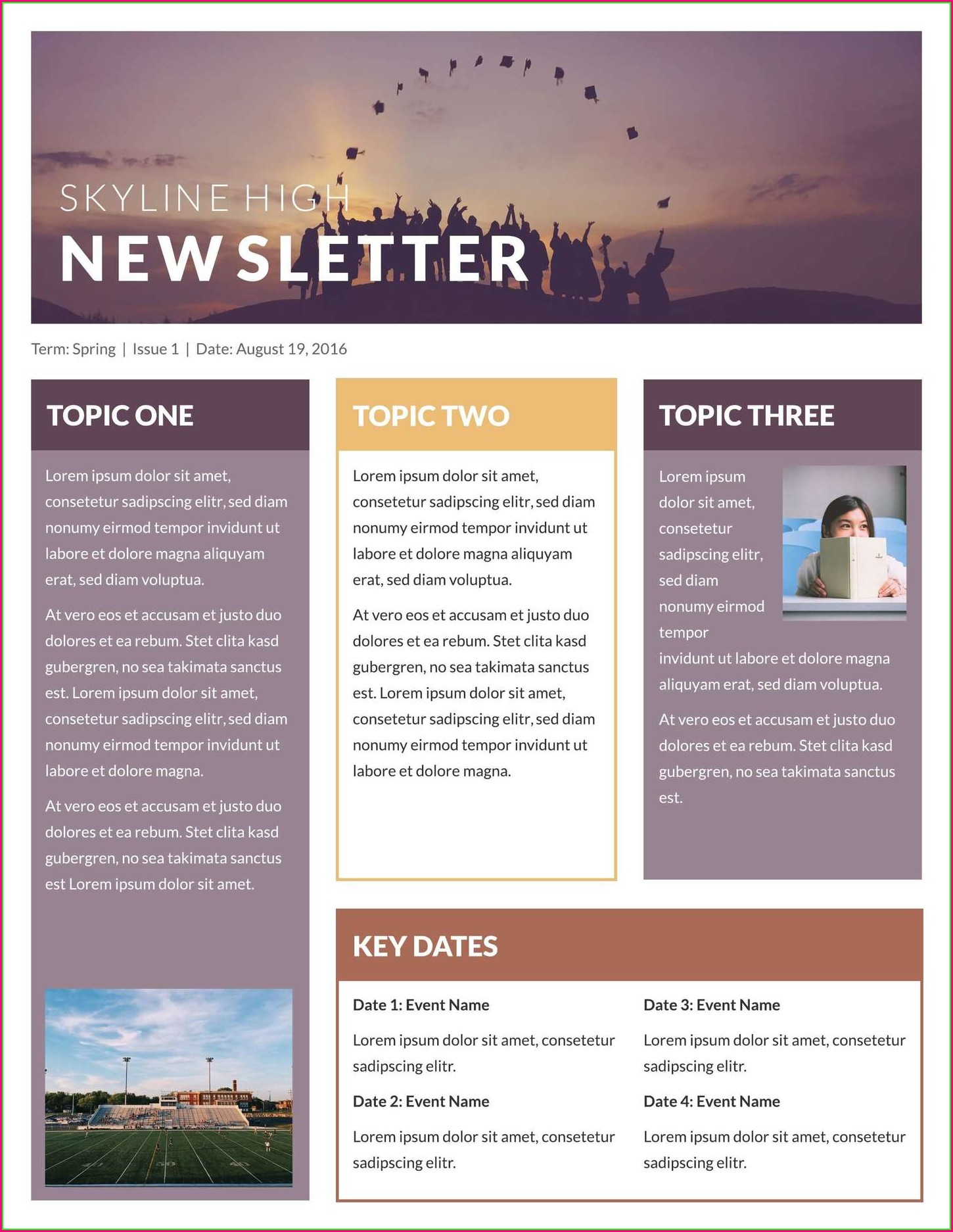 Professional Fun Newsletter Templates