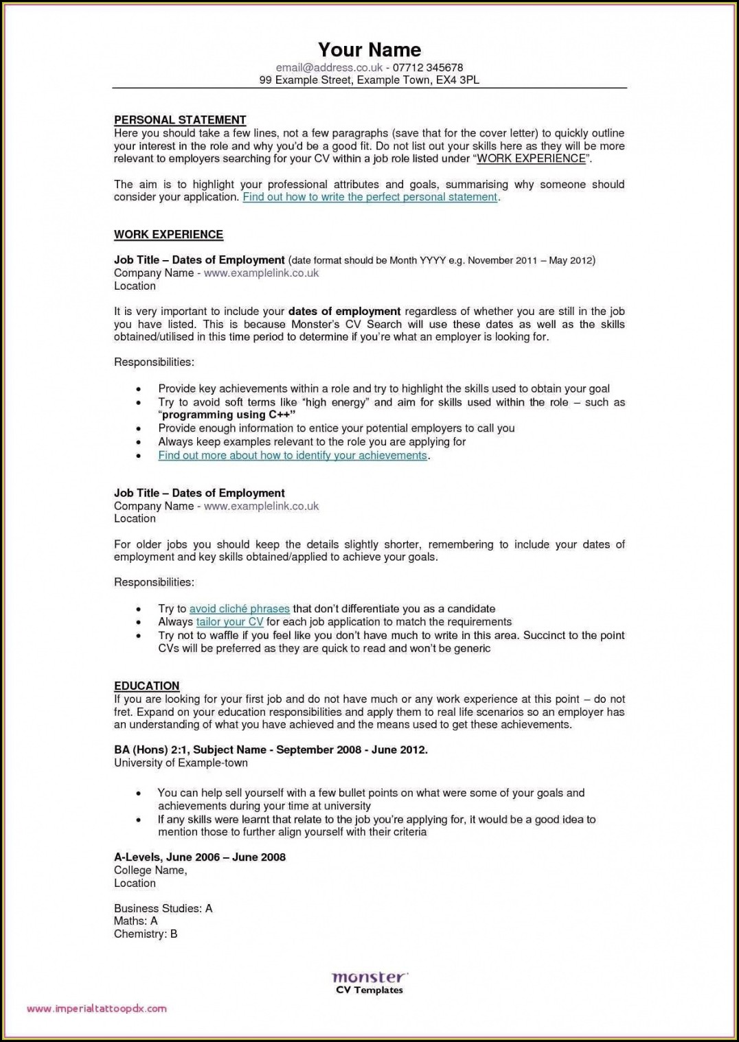 Professional Resume Best Free Resume Builder