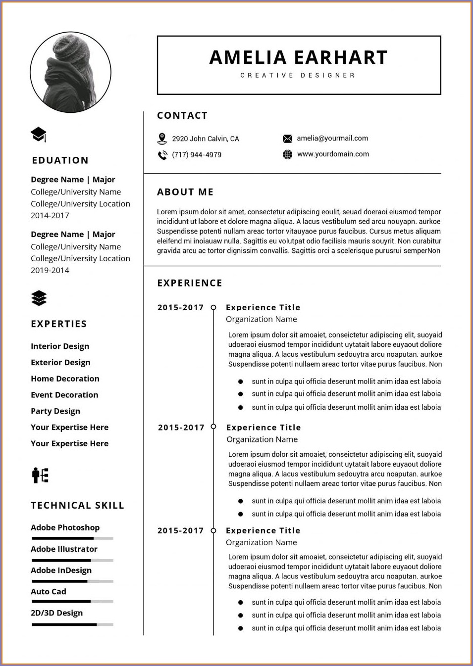 Professional Resume Free Resume Templates Word