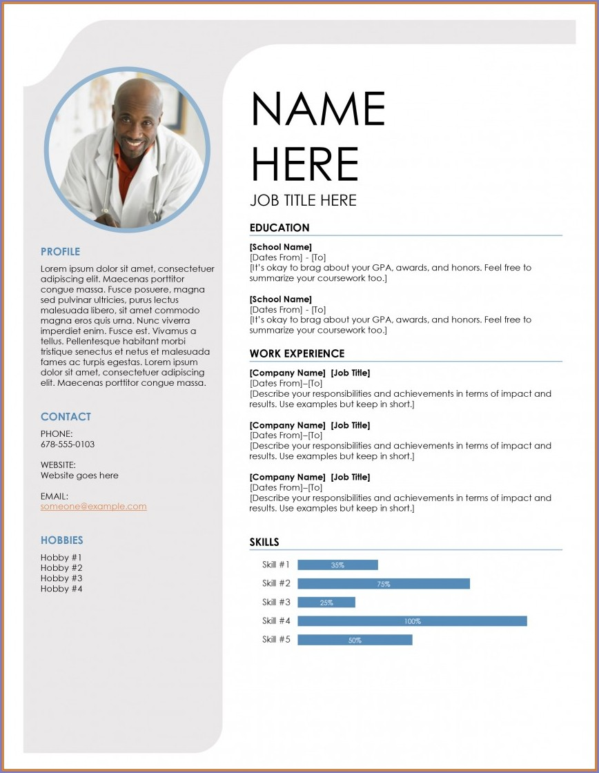Professional Resume Word Free Resume Templates 2019