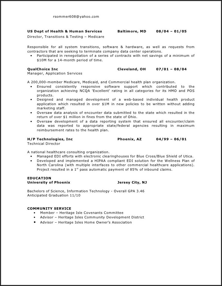 Professional Resume Writers Baltimore Md