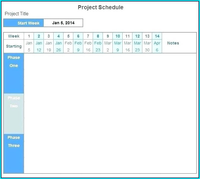 Project Plan Timeline Template Word