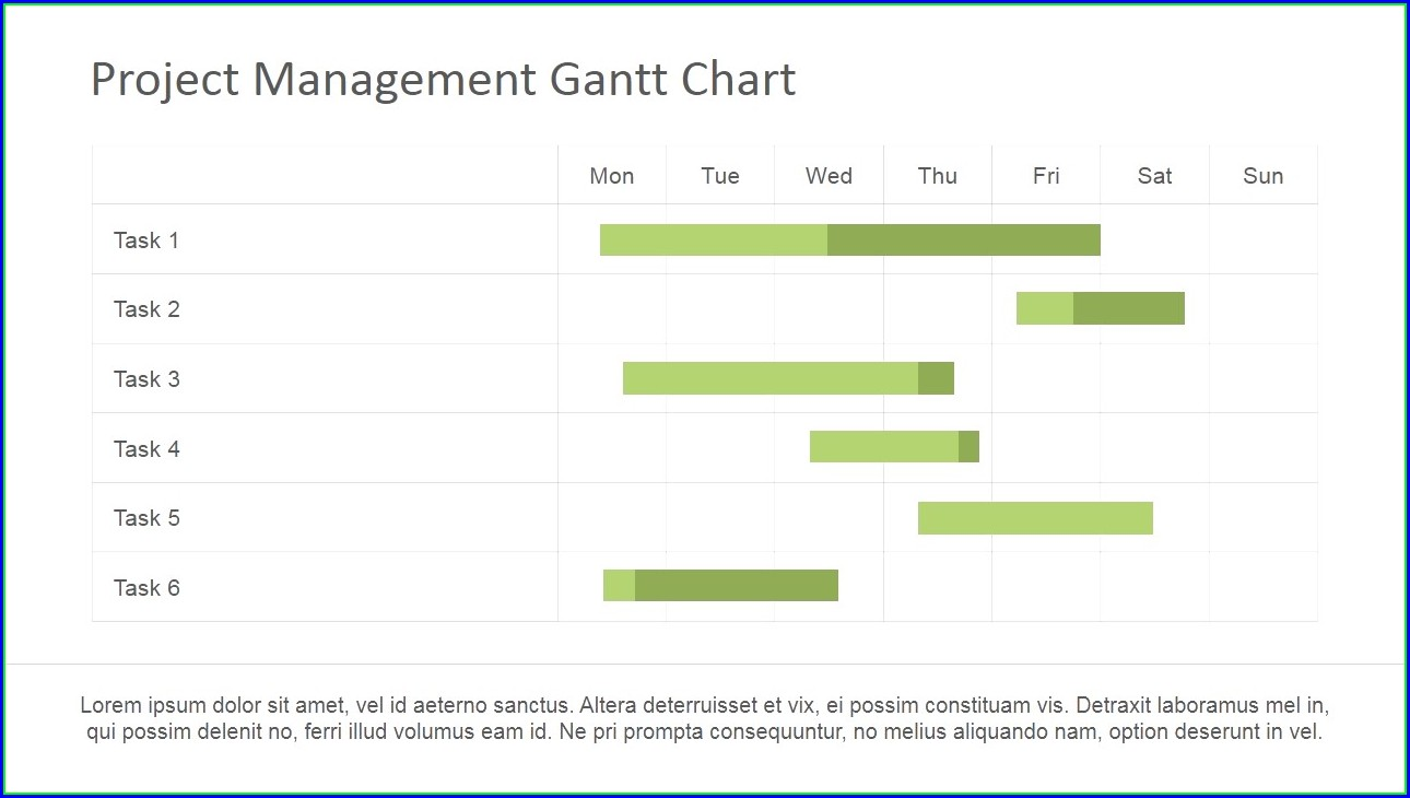Project Timeline Gantt Chart Template Powerpoint