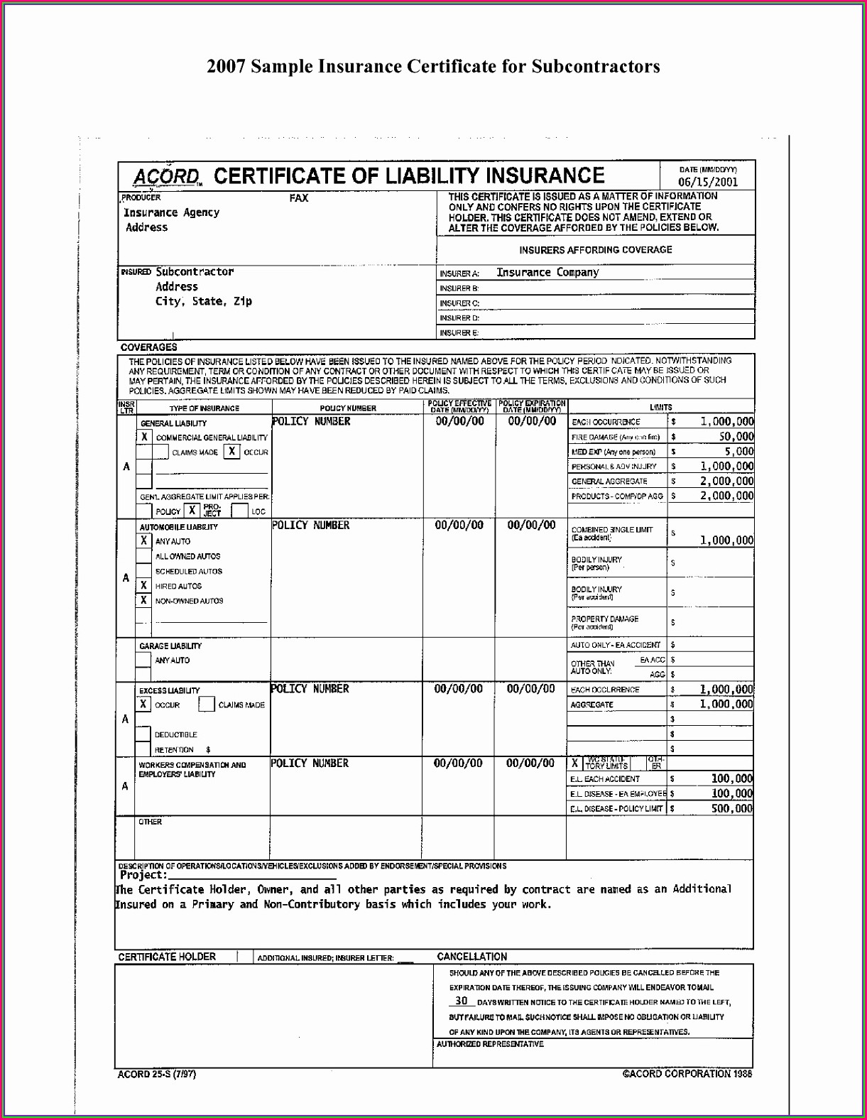 Proof Of Insurance Template Download