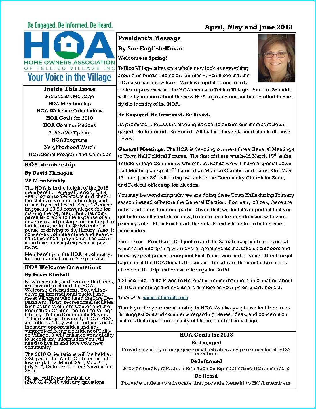 Quarterly Newsletter Hoa Newsletter Templates