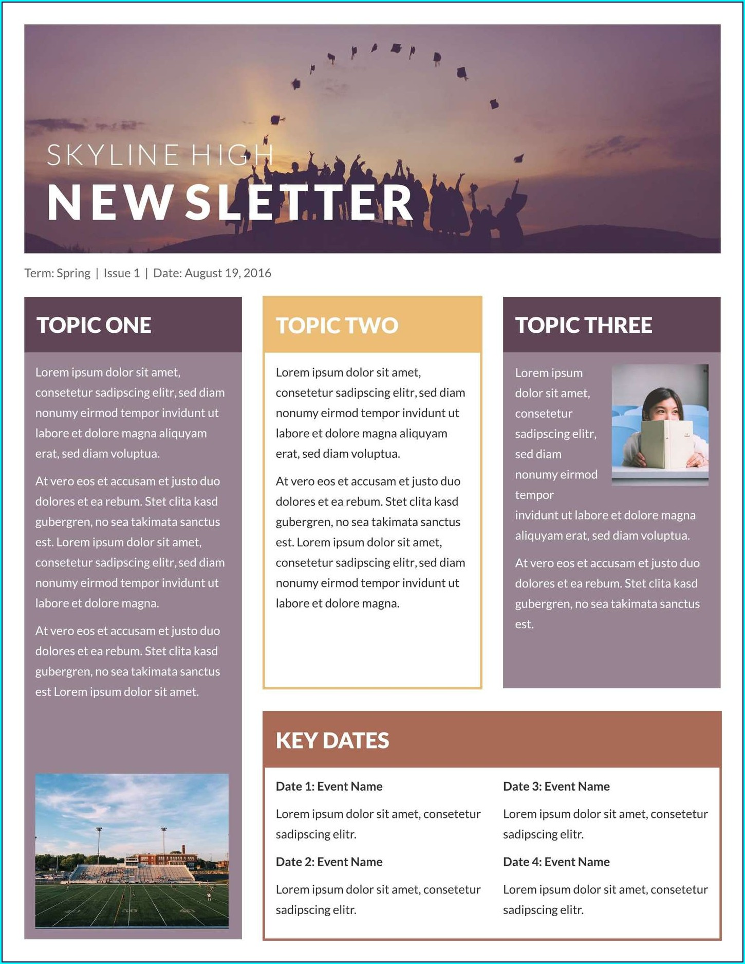 Quarterly Newsletter Template