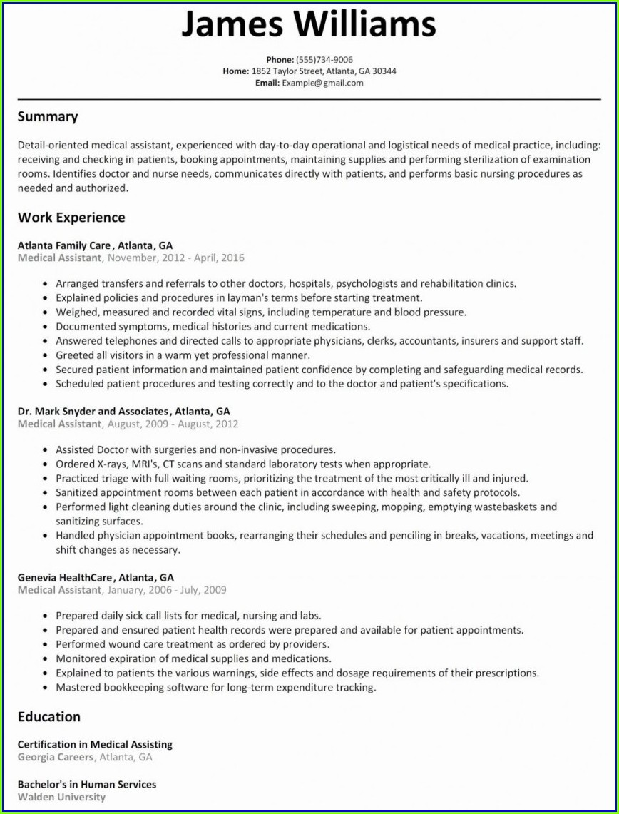 Registered Nurse Resume Template Download