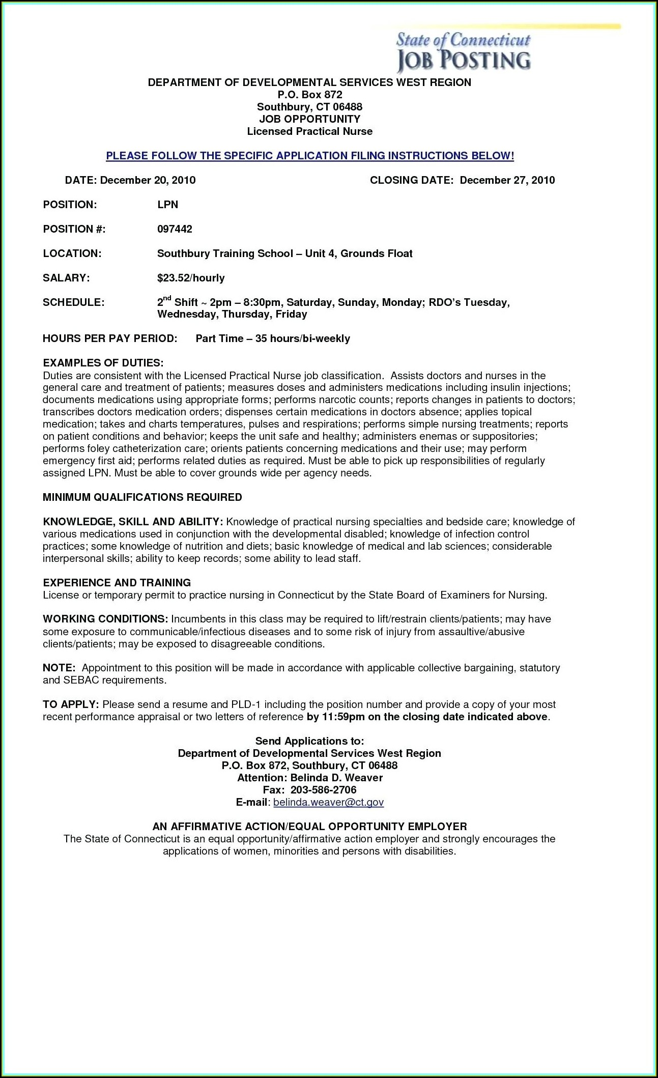 Registered Practical Nurse Resume Template