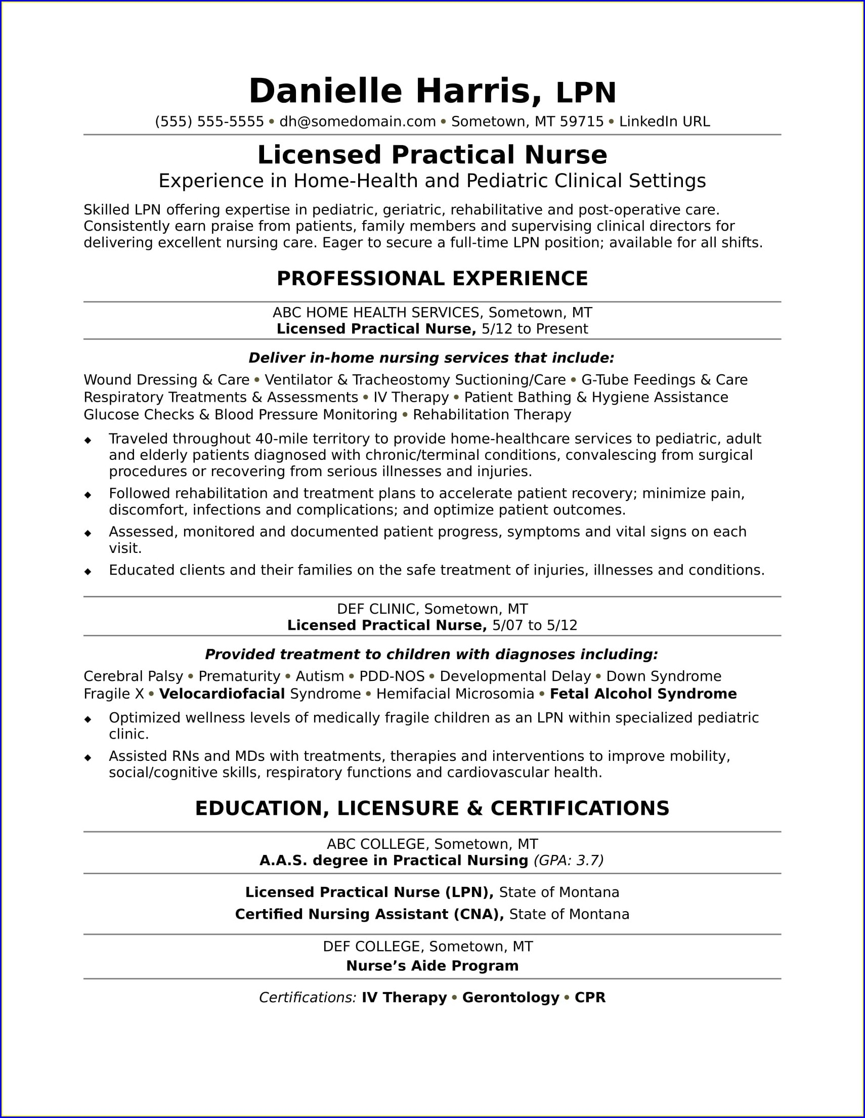 Rehab Cna Job Description For Resume