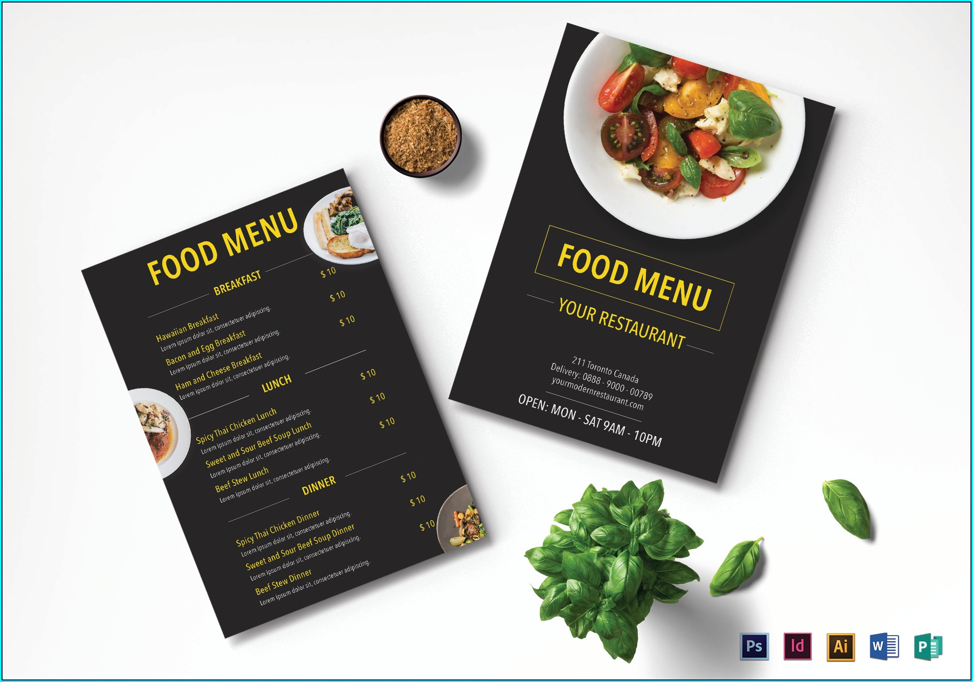 Restaurant Menu Template Psd Free Download