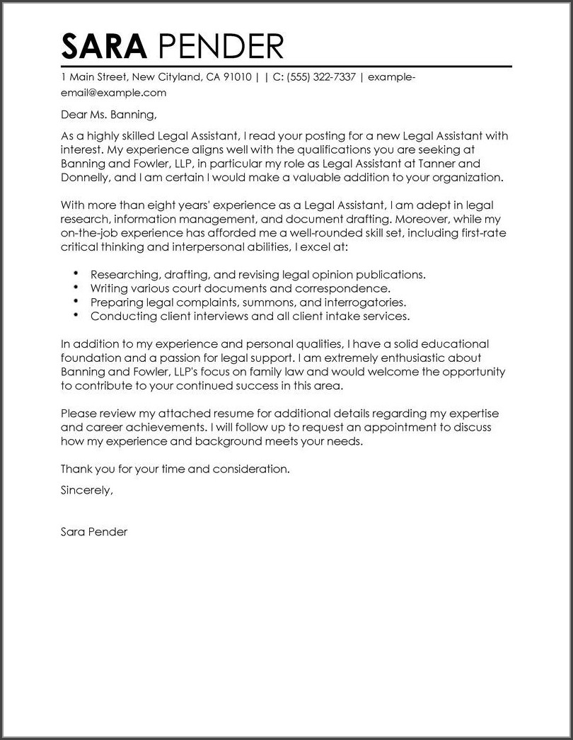 Resume Cover Letter Examples For Medical Assistant
