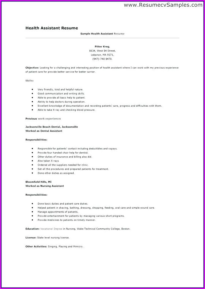 Resume Examples For Medical Office Administration