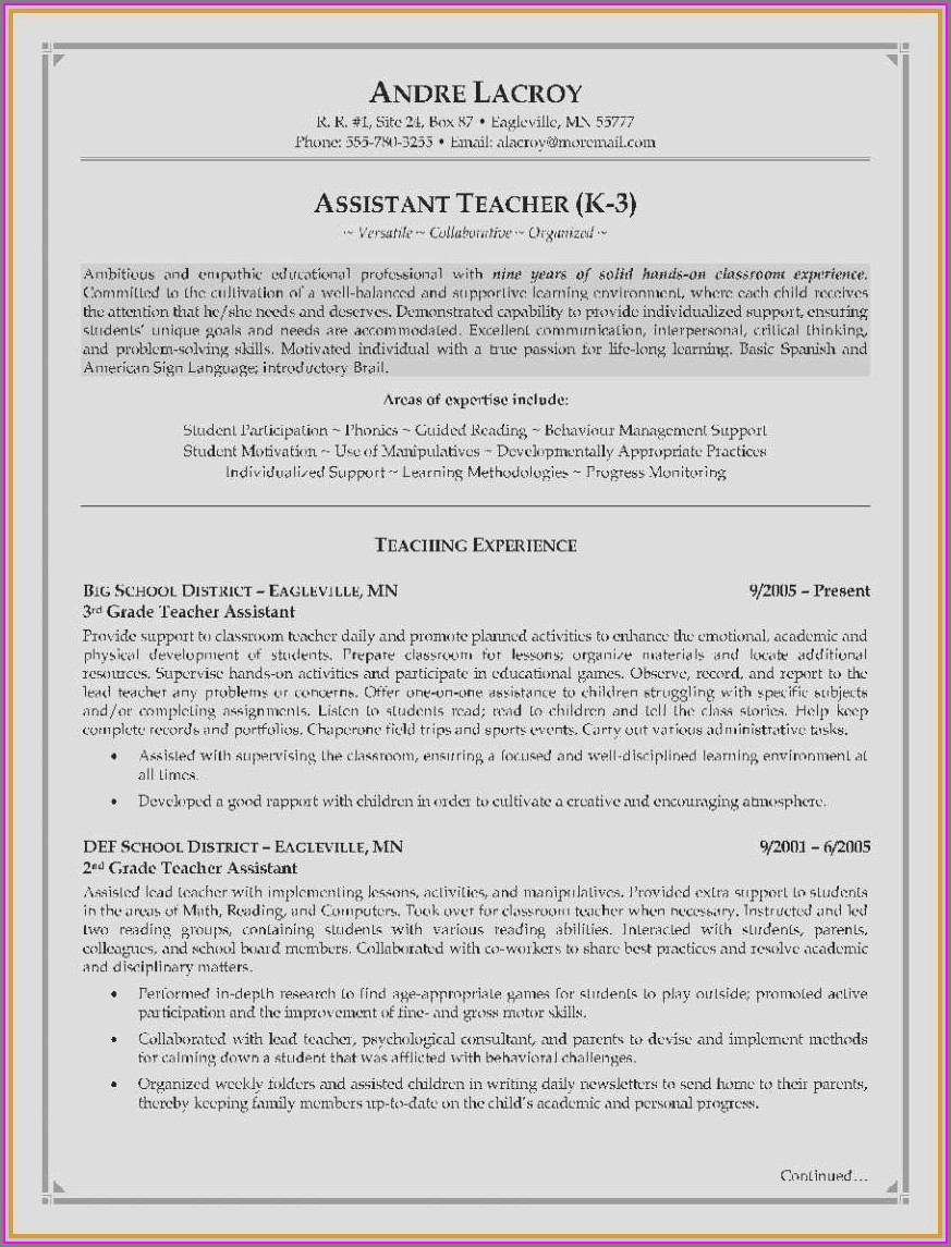 Resume Examples For Registered Dental Assistant