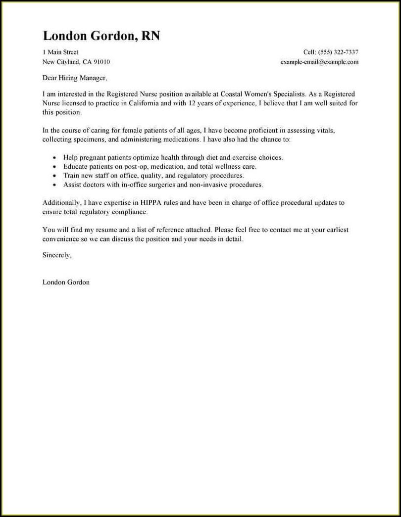 Resume For Registered Nurse Format