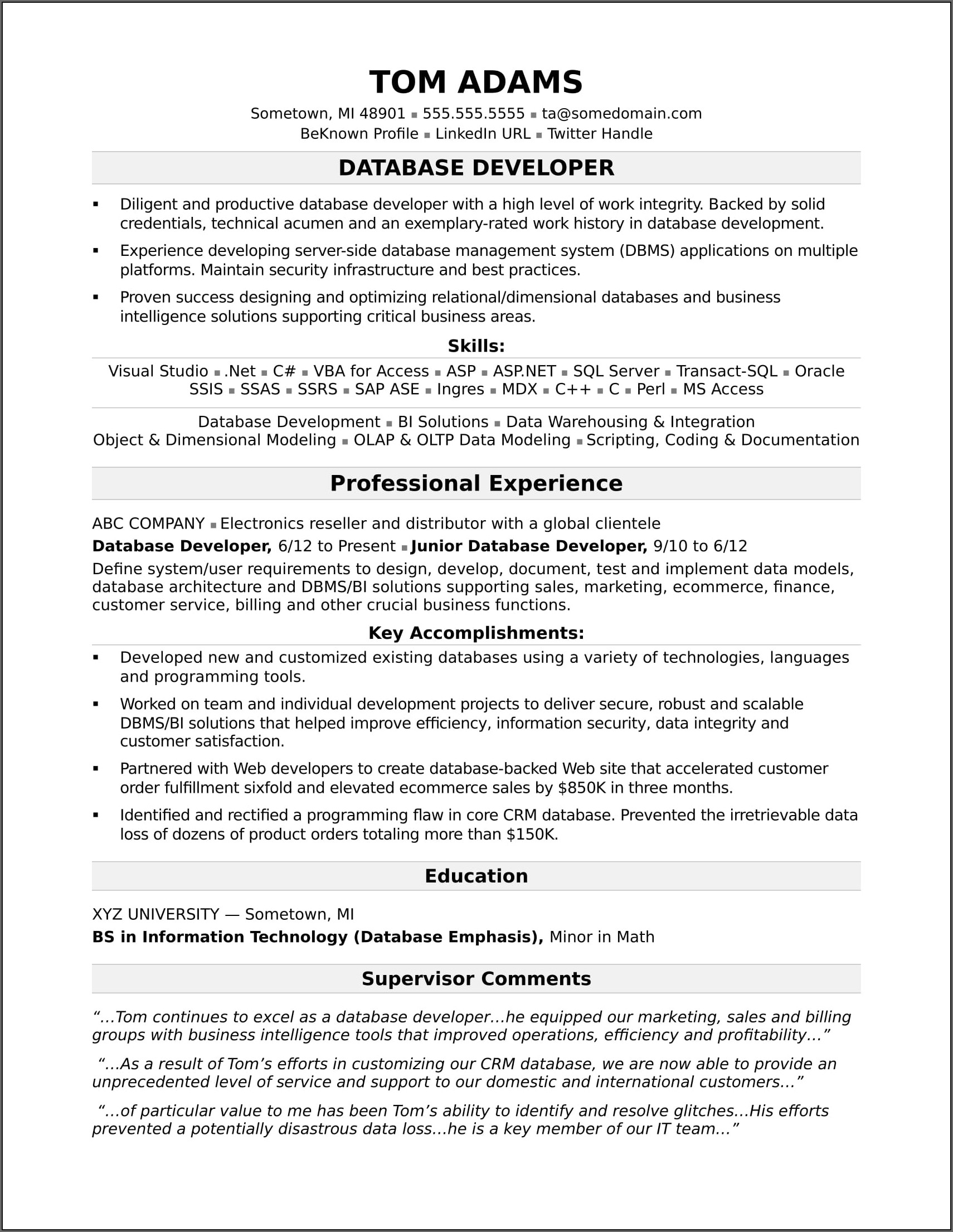 Resume For Sales Executive In Real Estate