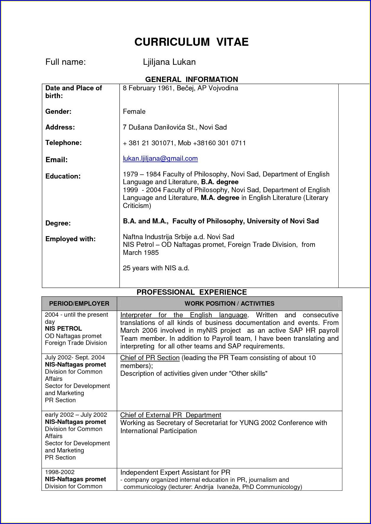 Resume Format For Freshers Engineers Pdf Free Download