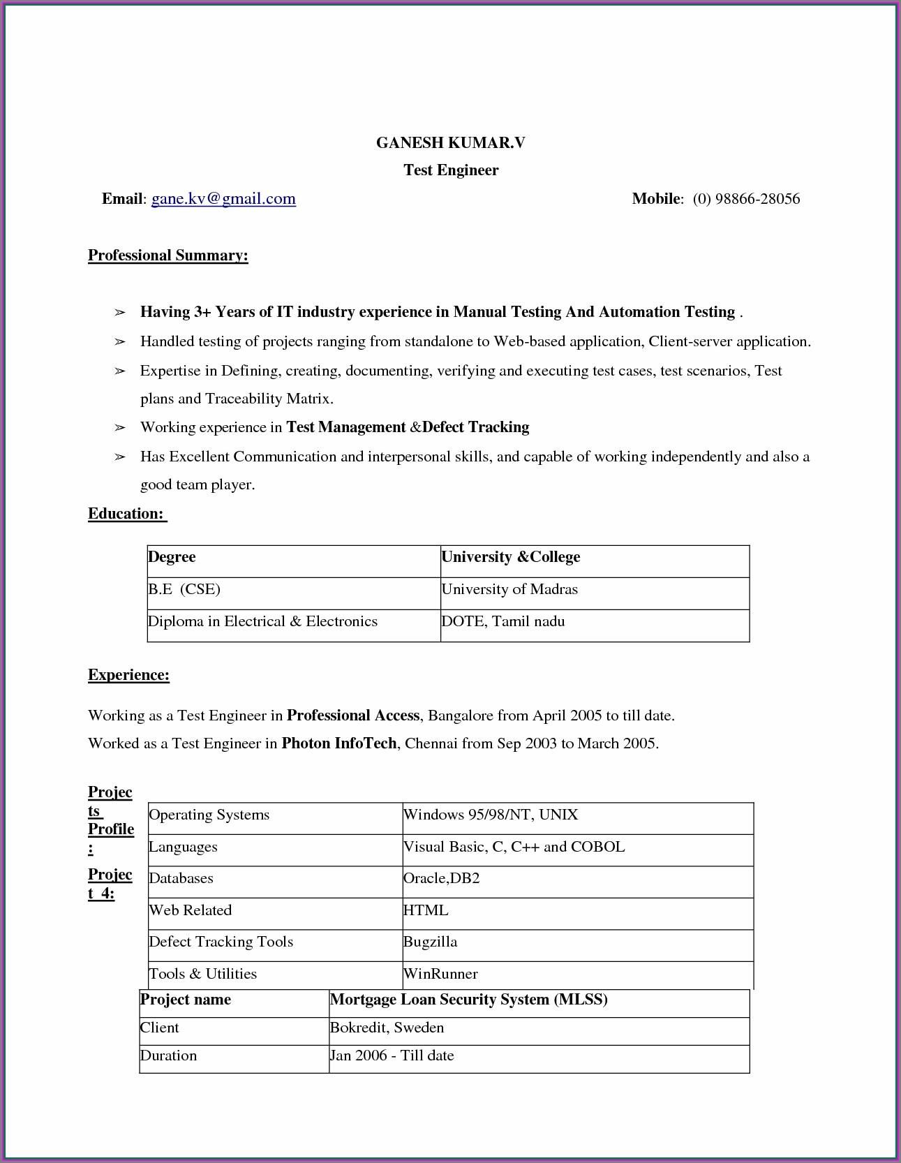 Resume Formatting On Word