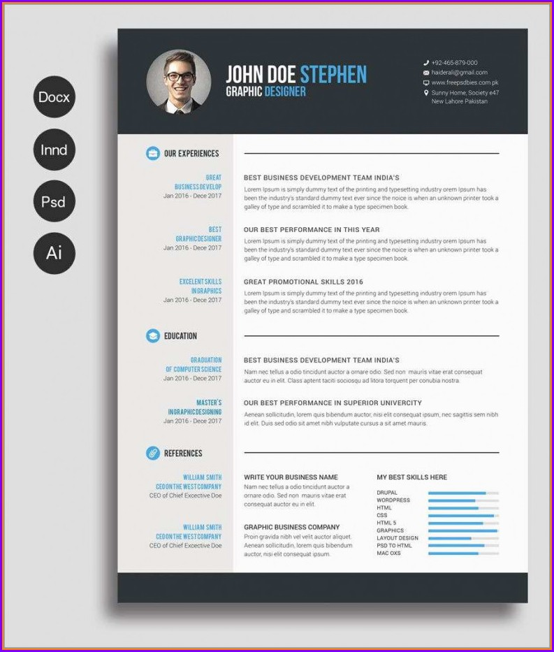 Resume Free Download Word Document