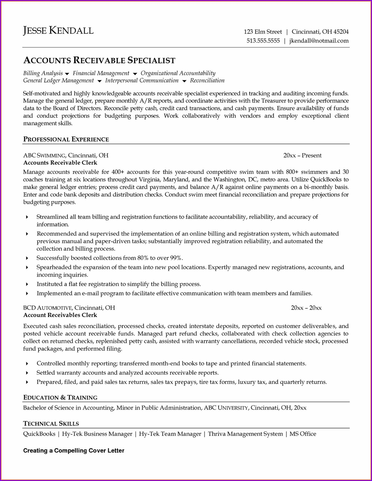Resume Objective Examples Accounts Payable Clerk