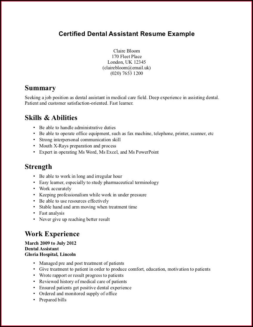 Resume Objective For Assistant Nurse Manager