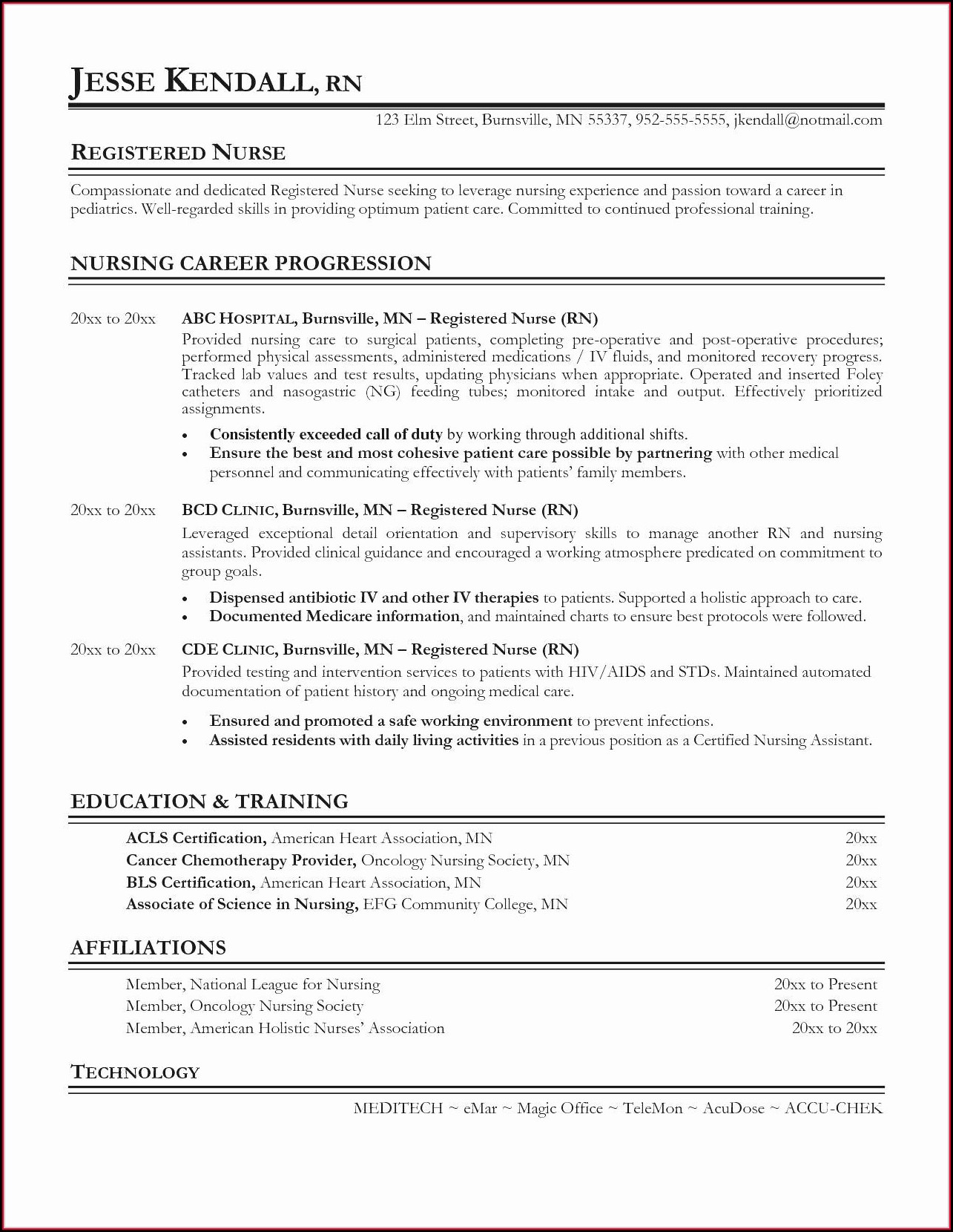 Resume Objective Statements For Nursing Assistant