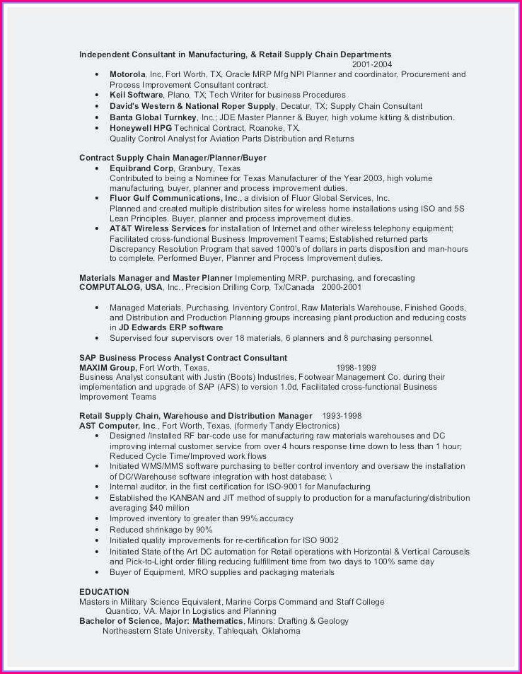 Resume Sample For Nanny Position