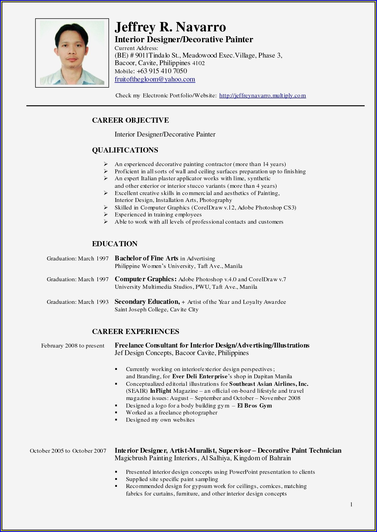 Resume Sample For Nurses In The Philippines