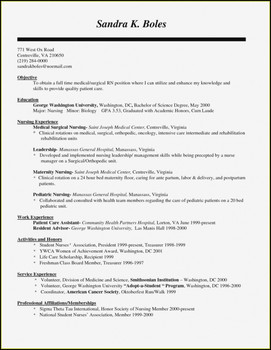 Resume Sample Nursing Resume Format Free Download