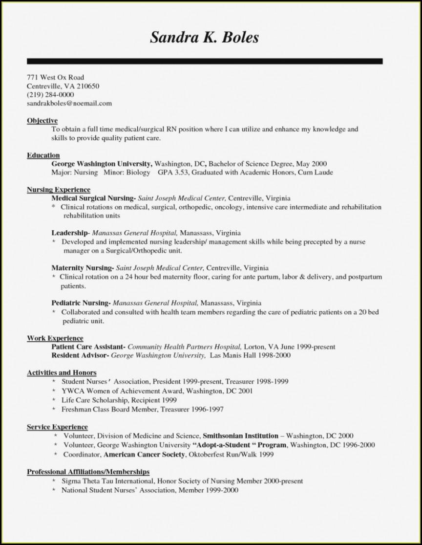 Resume Sample Nursing Resume Format Free Download