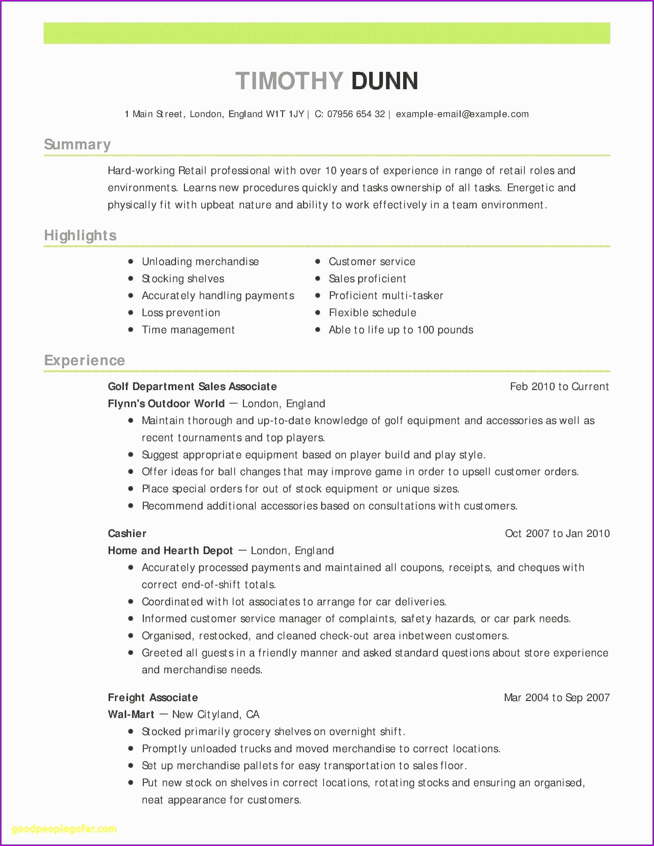 Resume Summary Examples For Customer Service Manager