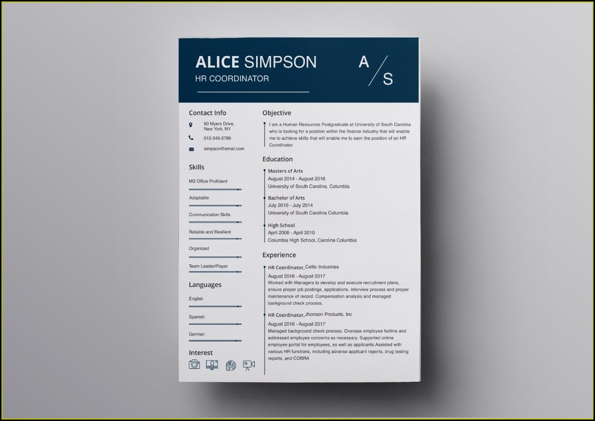 Resume Template For Apple