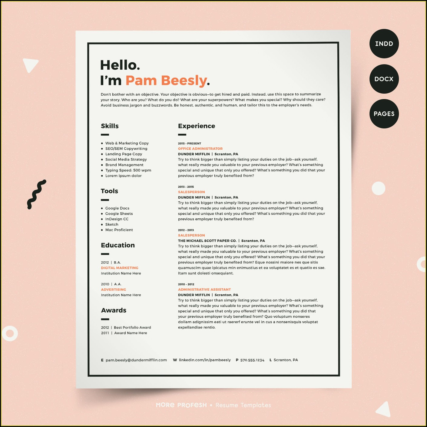 Resume Template For Macbook Air