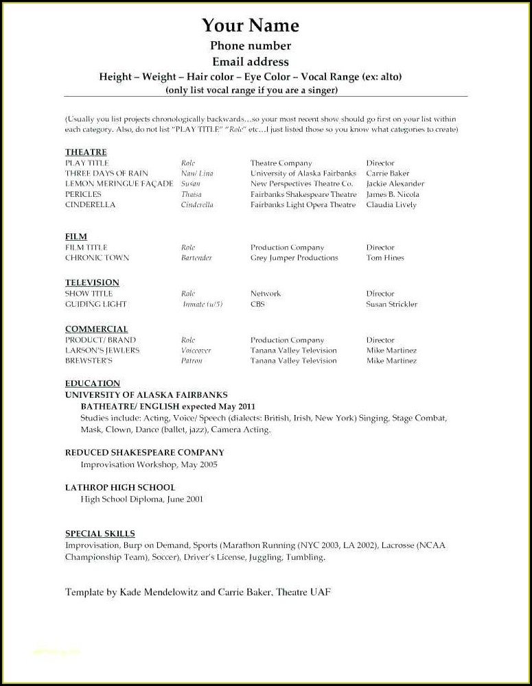 Resume Template For Machinist