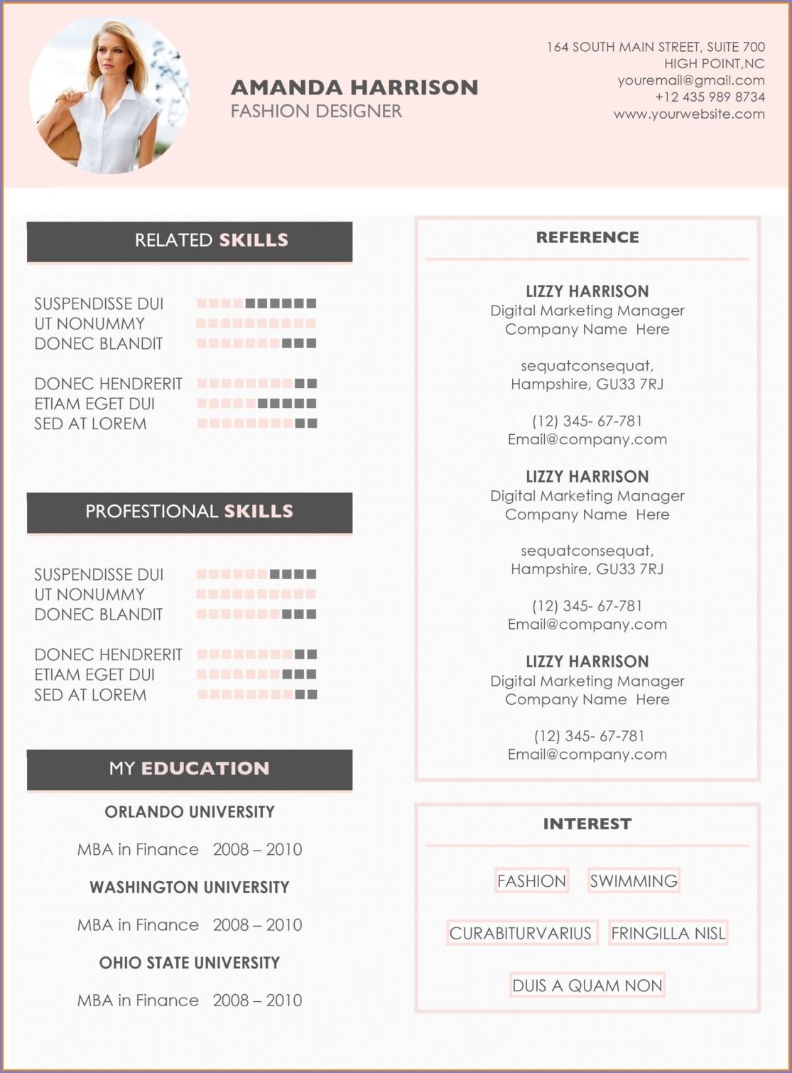 Resume Template Word 2008 Mac
