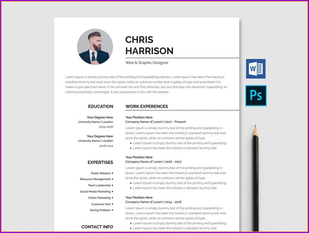 Resume Template Word Free Download