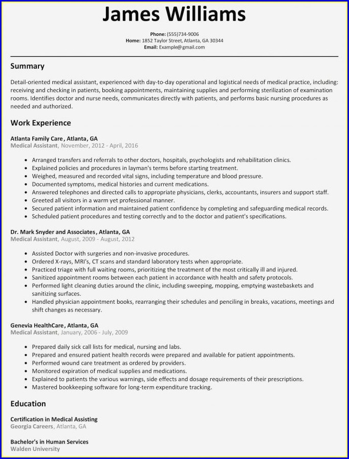 Resume Templates Free Download For Mac