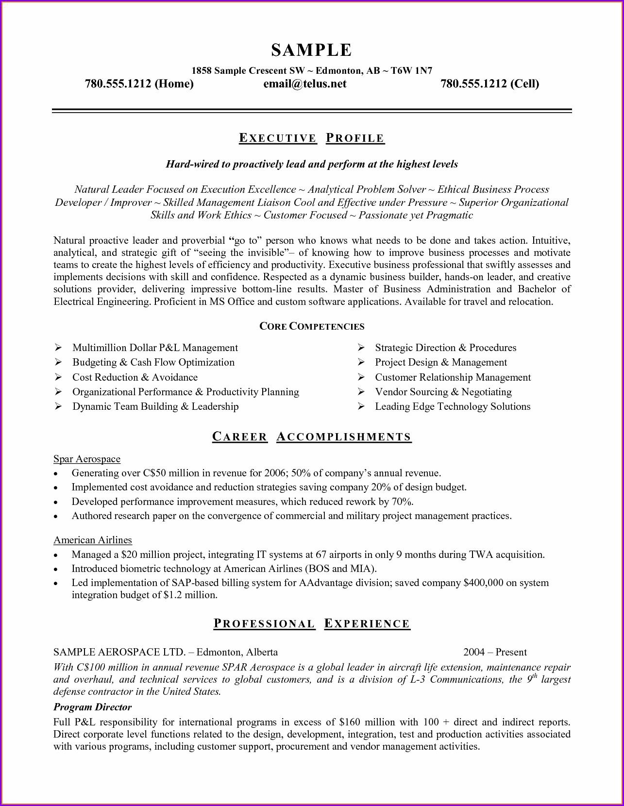 Resume Templates Microsoft Word 2010