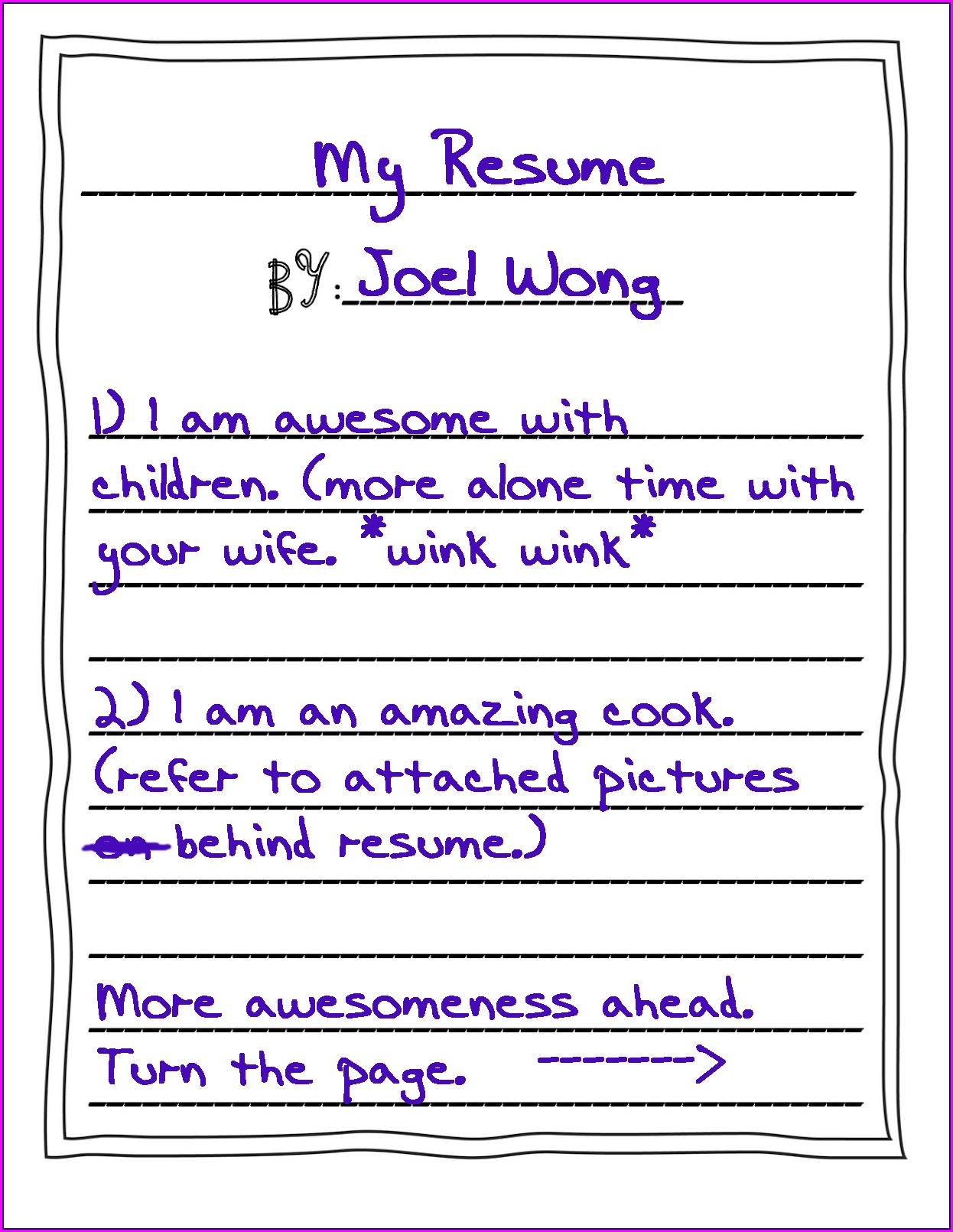 Resume Writing For Dummies