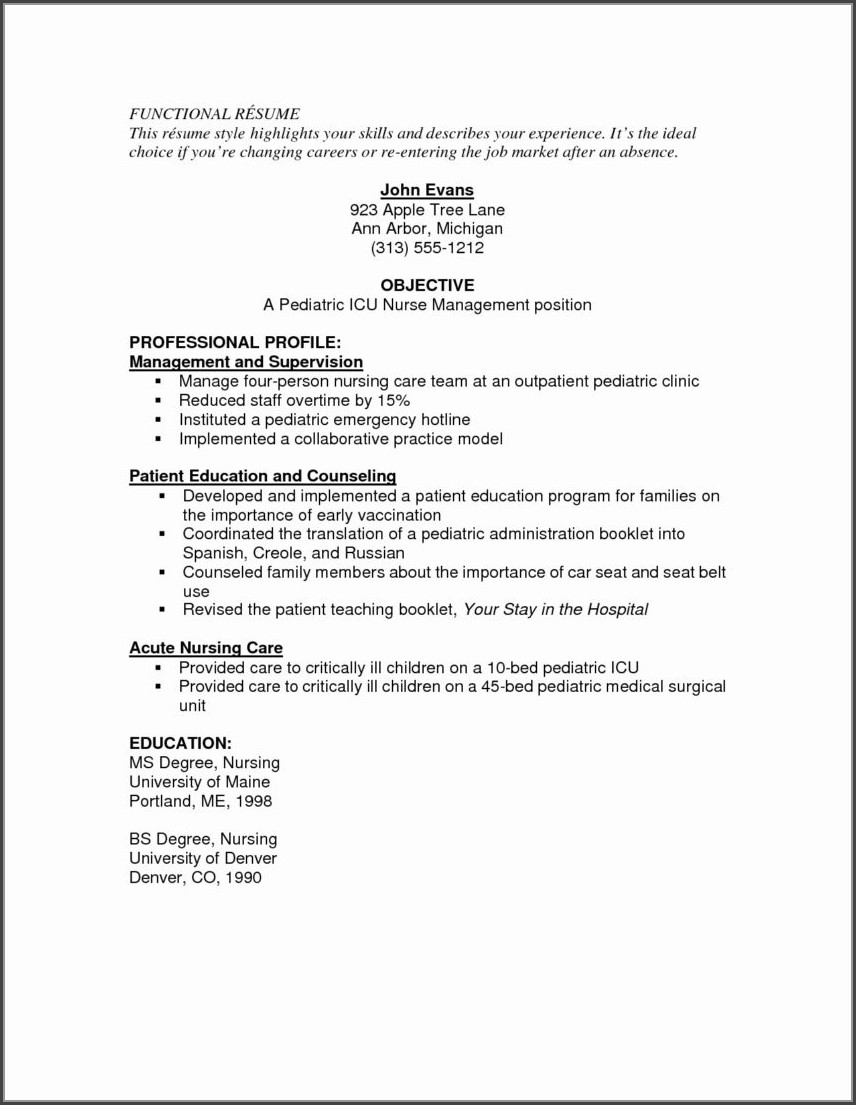 Resumes For Registered Nurses Medical Surgical