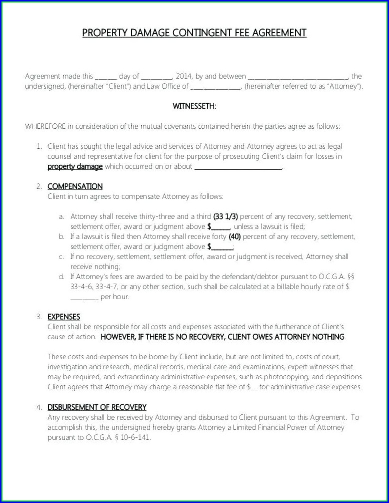Retainer Contract Template Uk