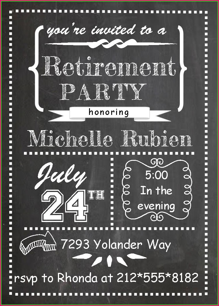 Retirement Announcement Retirement Flyer Template Free