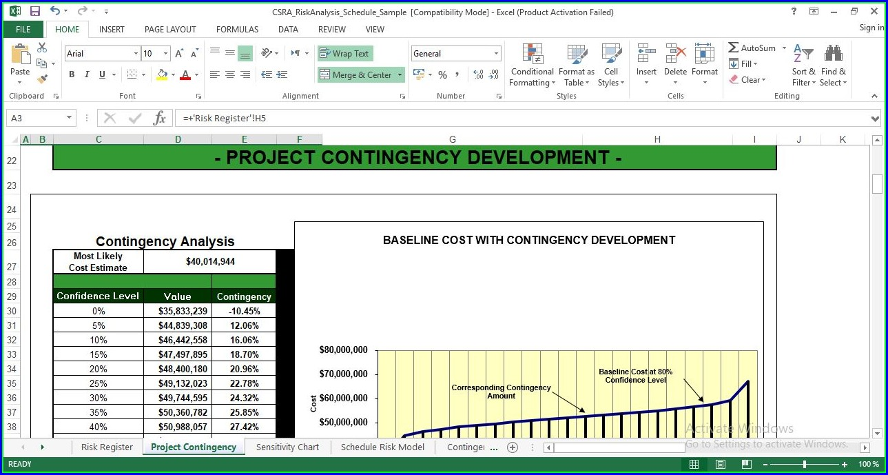 Risk Analysis Risk Management Template Excel
