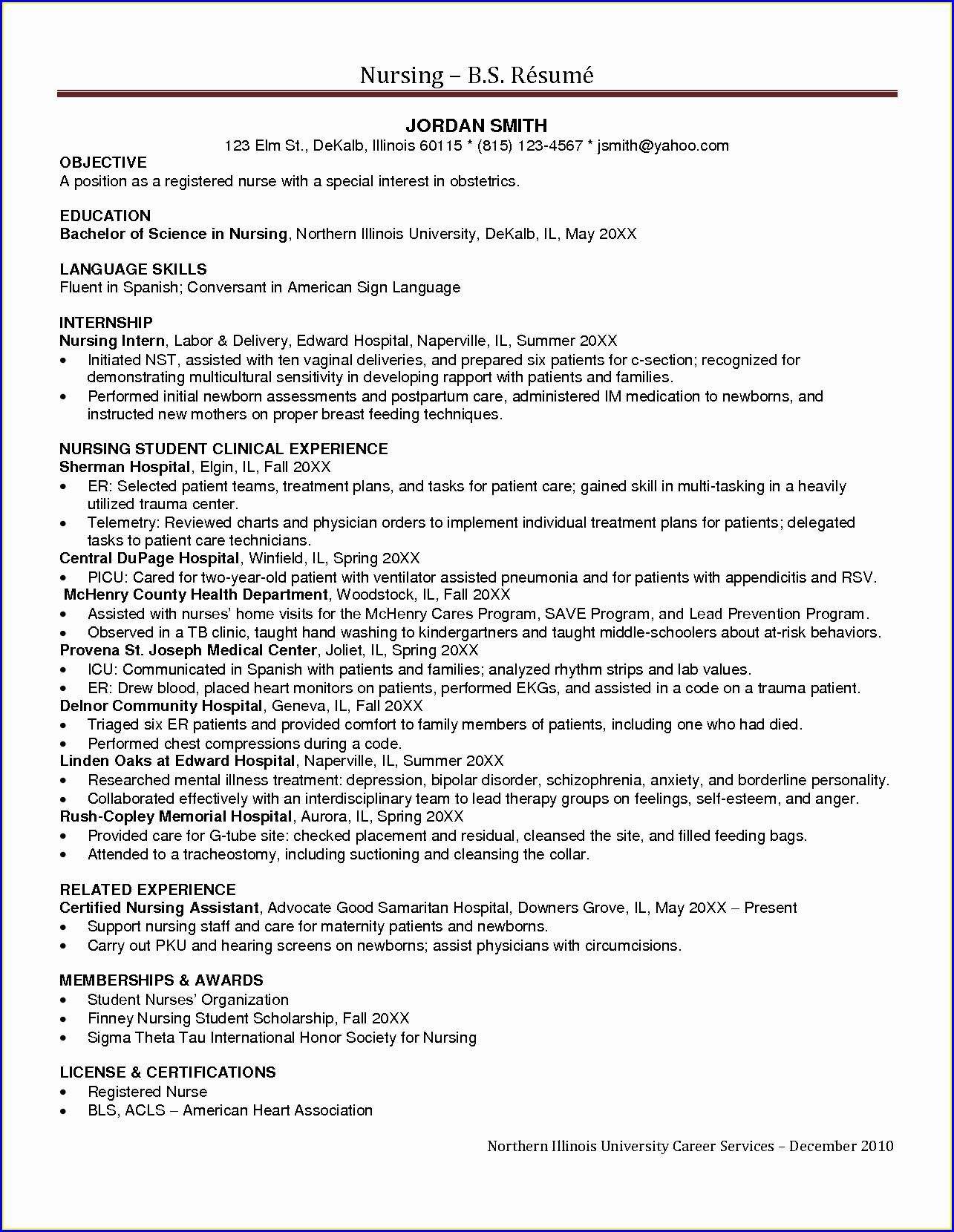 Sample Career Objective For Nurse