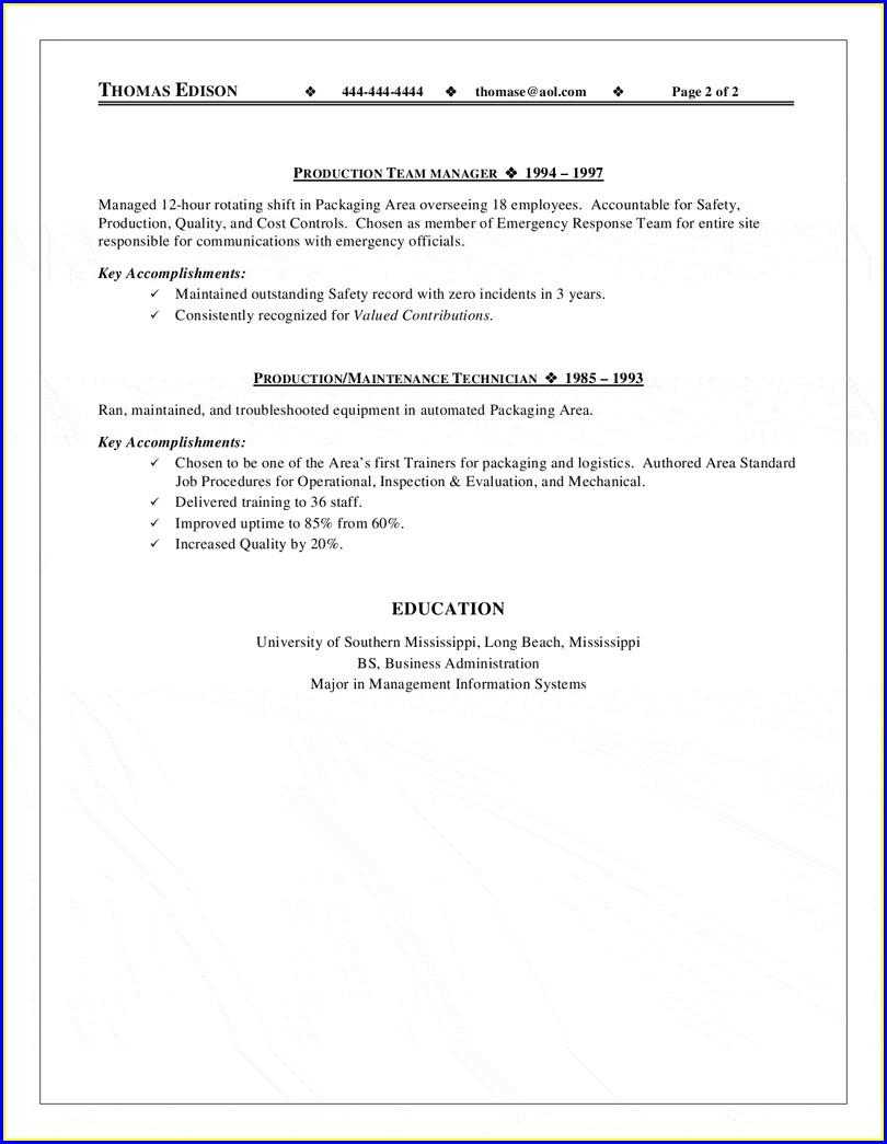 Sample Resume For Airline Jobs