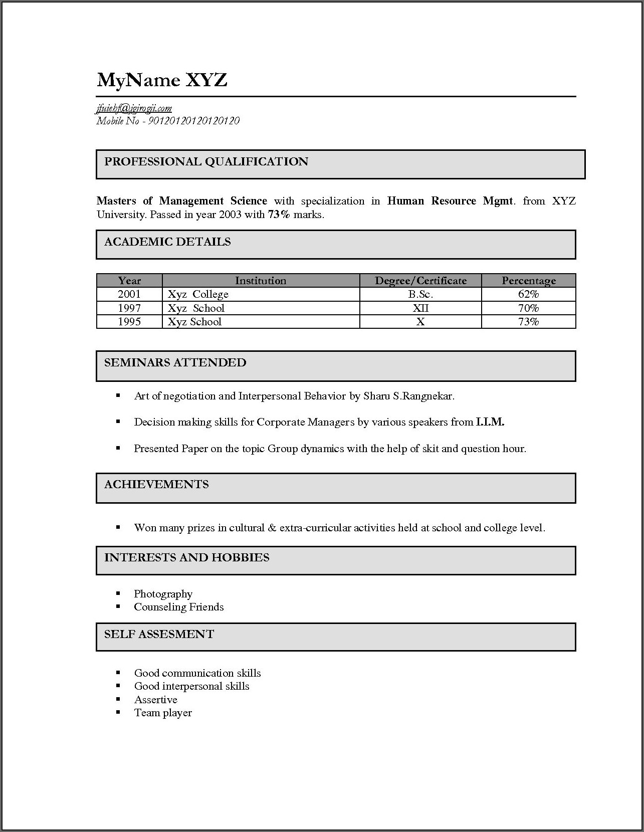 Sample Resume For Bsc Nursing Fresher Pdf