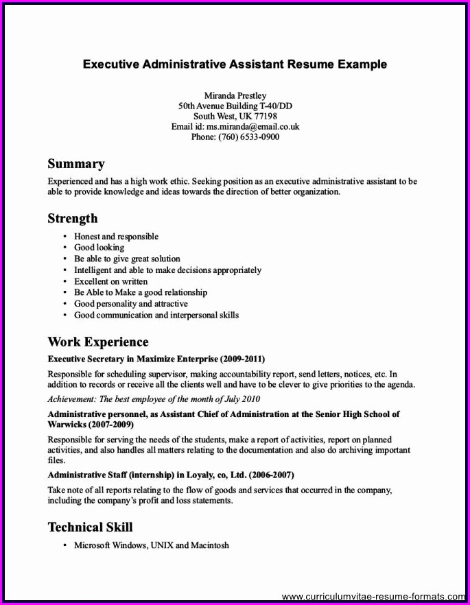 Sample Resume For Front Office Medical Assistant