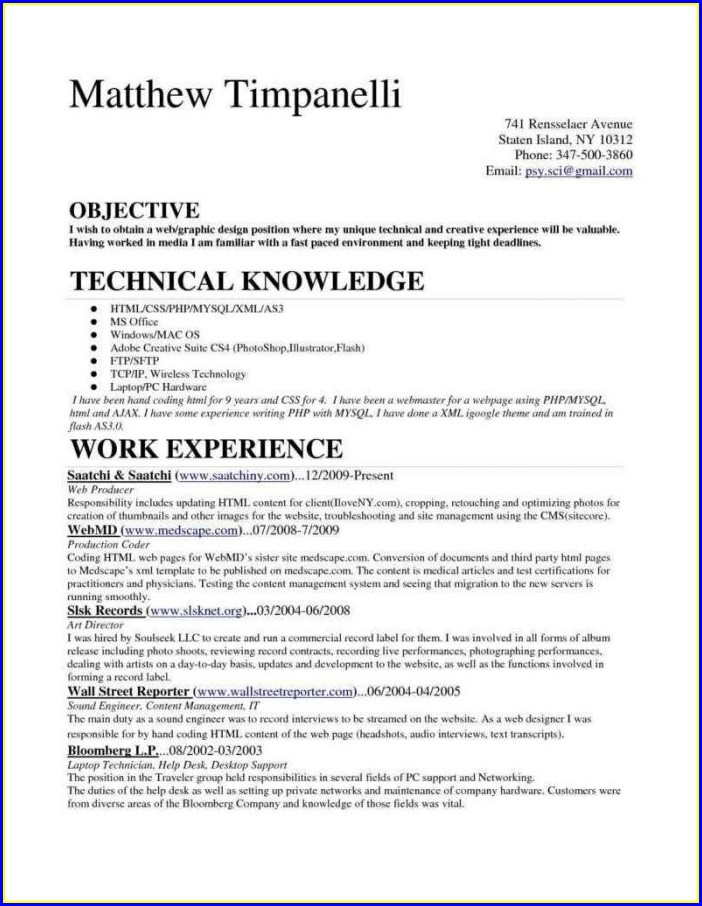 Sample Resume For Medical Billing And Coding With No Experience